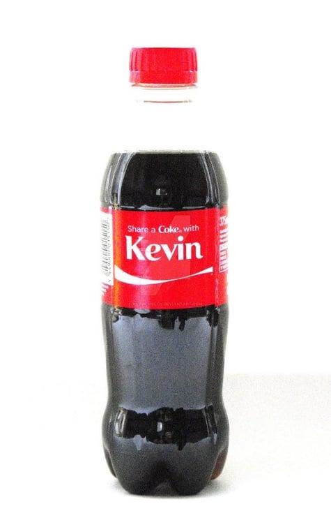 Coca-cola Kevin label