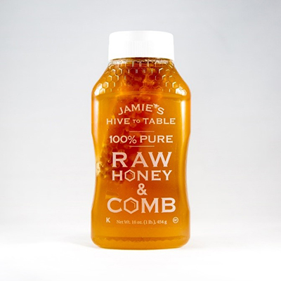 Jamie's Raw Honey Label