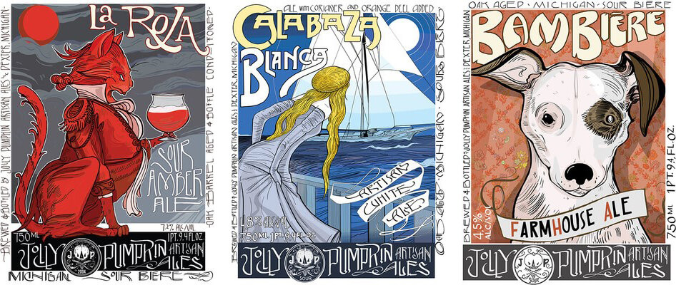 Jolly Pumpkin Labels