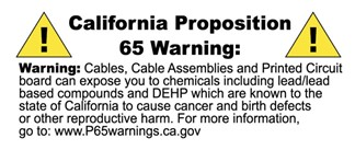CA proposition 65 warning