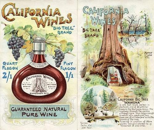 California Wines wine label