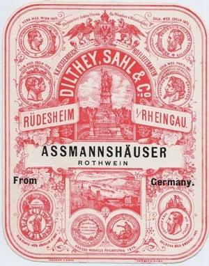 Assmannshauser wine label