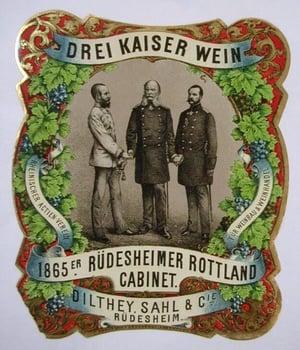 Drei Kaiser Wein wine label
