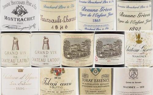 multiple wine labels