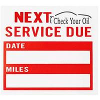 next service due label