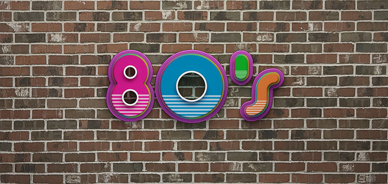 Custom Label Design Inspiration: The 1980s